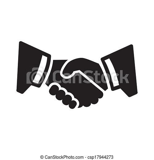 stretta di mano, icona - csp17944273