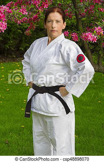strijder, vrouw, sterke - csp48898070