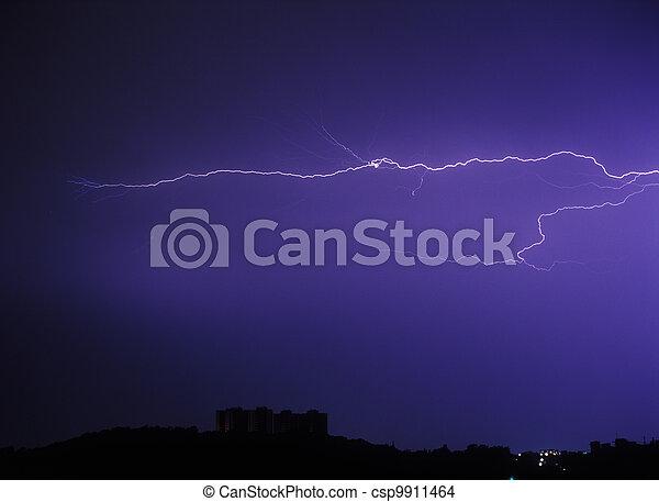 strike., éclair - csp9911464