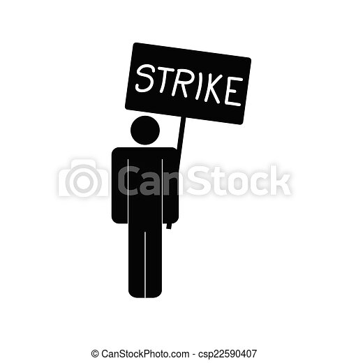 strike icon with man vector - csp22590407