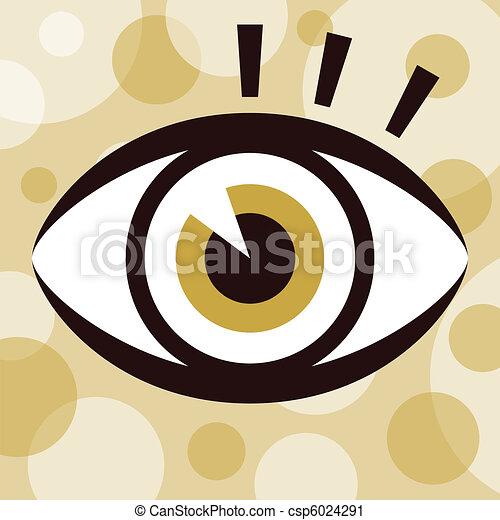 Striking eye design. - csp6024291