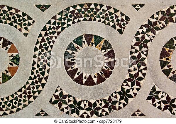 Striking Inlaid Geometric Design - csp7728479