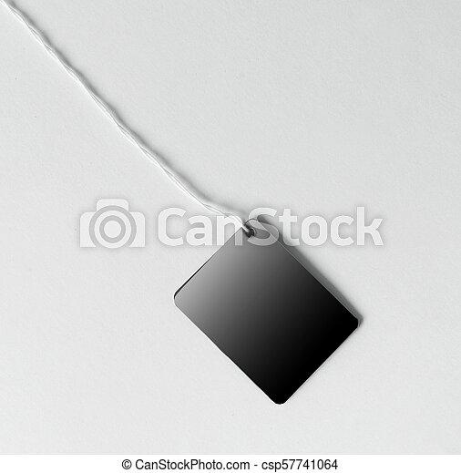 string., brun, espace, photo, attaché, étiquette, vide, copie - csp57741064