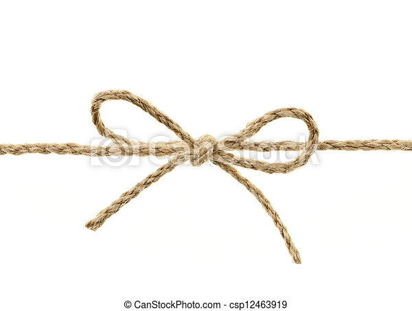 String tied in a bow - csp12463919