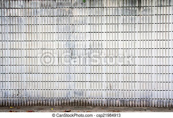 strip cement block wall - csp21984913