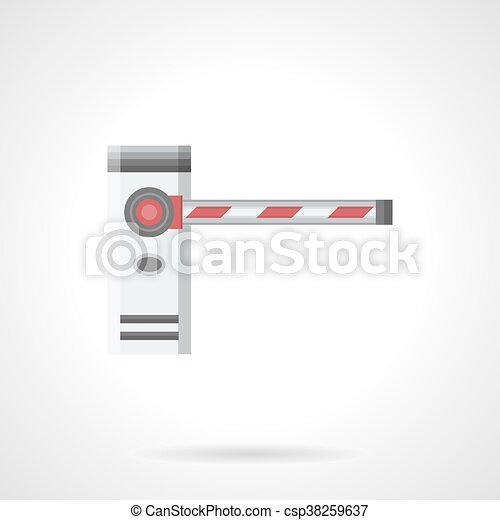 Striped barrier flat color vector icon - csp38259637