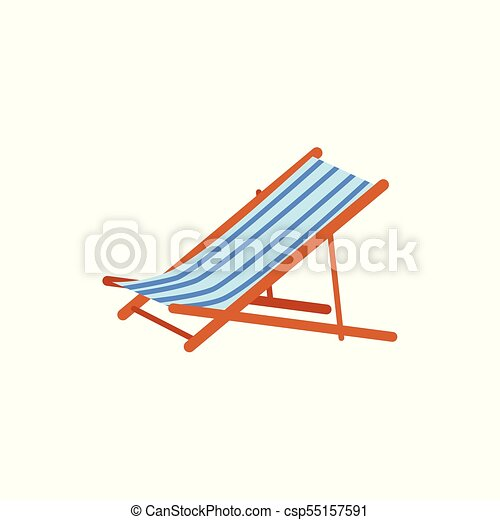 Beau Striped Beach Lounge Chair, Tanning Bed   Csp55157591