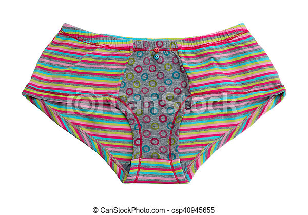f83cdf44e5cb Striped colored cotton panties. isolate on white.