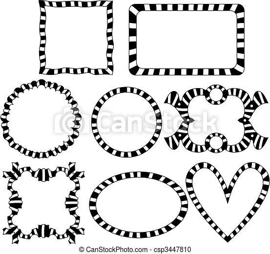 striped frames collection. Striped frames collection .