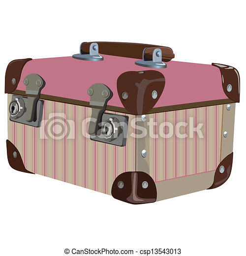 Striped Pink Retro Luggage
