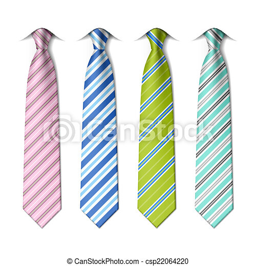Striped silk ties - csp22064220