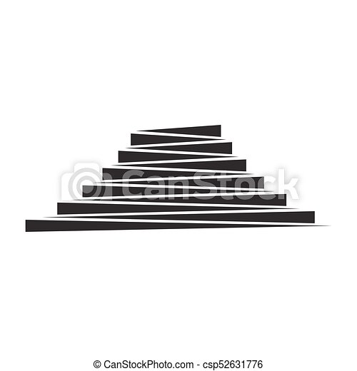 Stripes Abstract Stairs Steps Design Icon Vector Geometric Shape