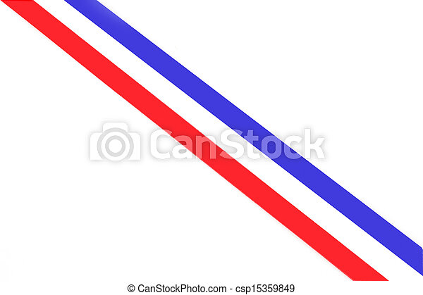 Stripes in colors of the dutch national flag - csp15359849