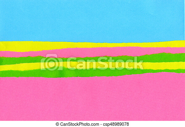 strips of paper with the ragged edge - csp48989078