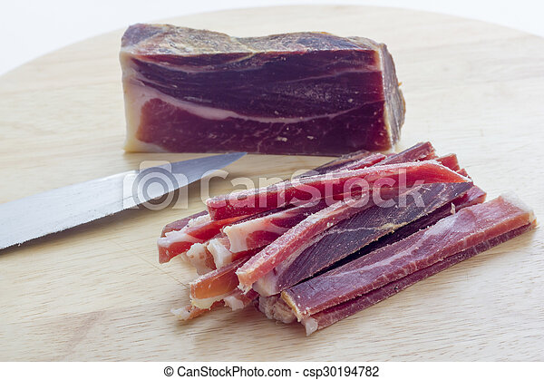 Strips of raw bacon - csp30194782