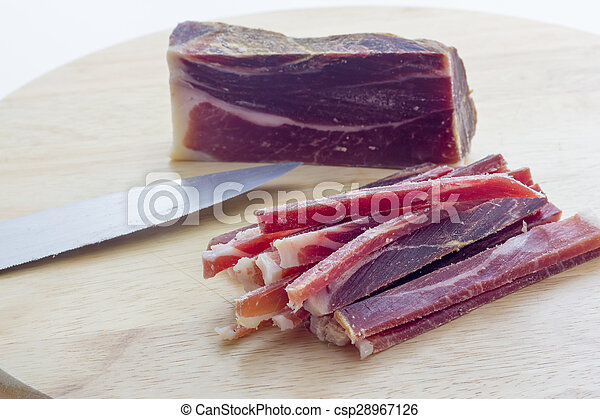 Strips of raw bacon - csp28967126