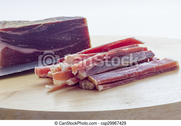 Strips of raw bacon - csp29967429