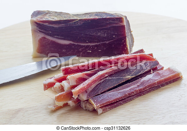 Strips of raw bacon - csp31132626