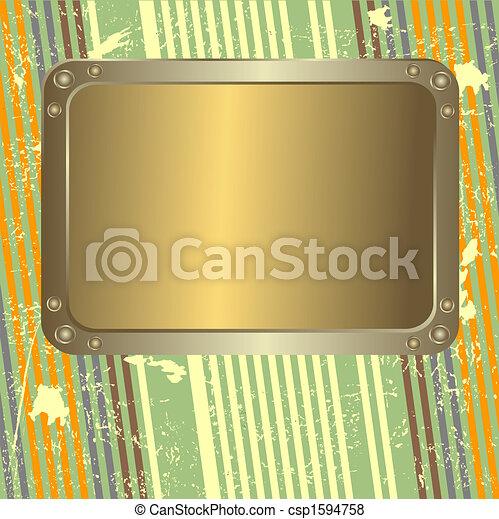 strisce, grunge, retro, fondo - csp1594758