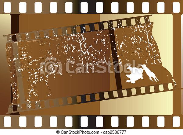 striscie, film, (vector) - csp2536777