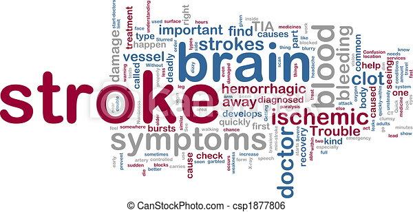 Stroke wordcloud - csp1877806