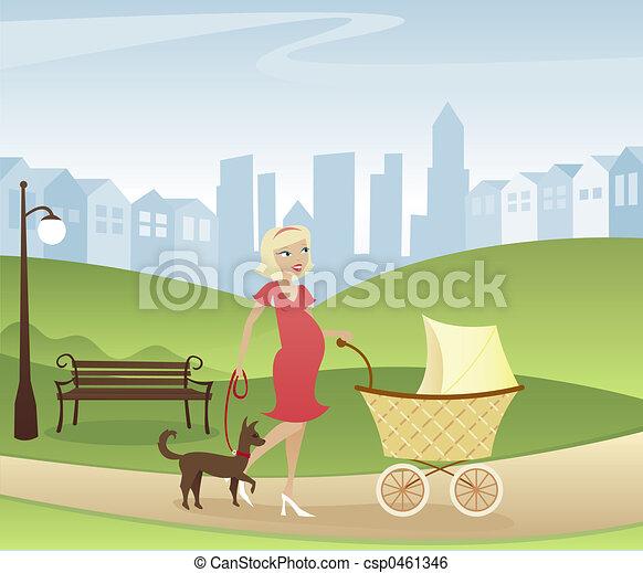 Stroll through the Park - csp0461346