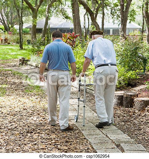 Strolling in the Garden - csp1062954
