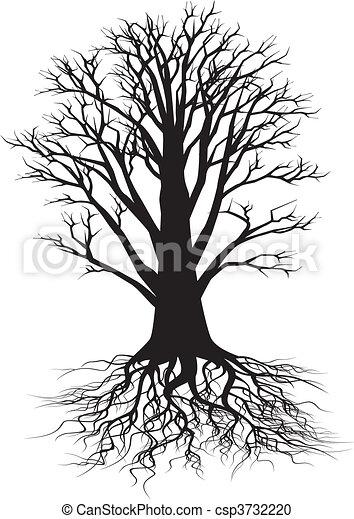 strom, silueta - csp3732220