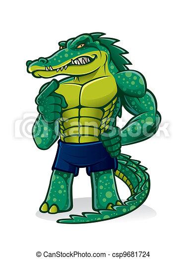 strong alligator cartoon alligator that pugnacious strong and
