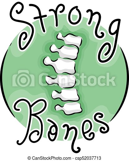 strong bones icon illustration illustration of a spine icon rh canstockphoto com clipart strong man strong clipart black and white