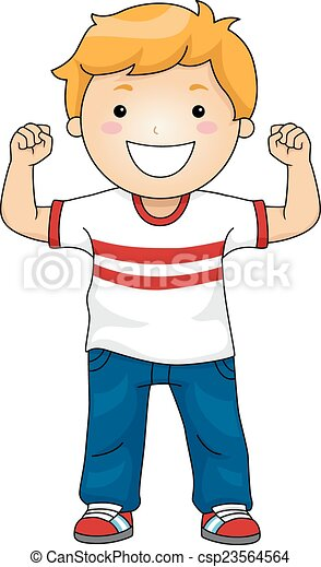 strong boy illustration featuring a boy flexing his muscles to rh canstockphoto com clipart of a boy running clipart of a boy writing