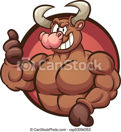 Strong bull - csp53094353