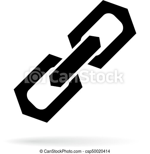 strong chain link vector sign on white background rh canstockphoto com chain link vector pattern chain link vector free download