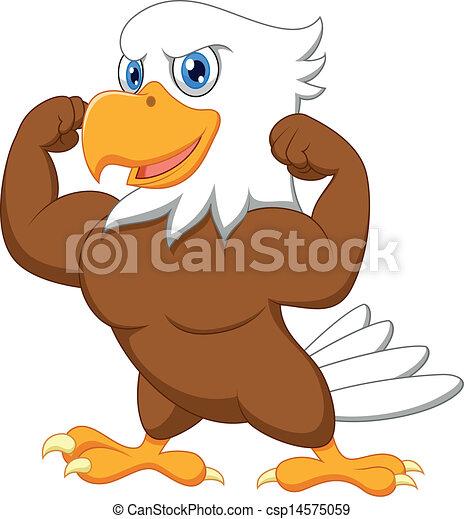 Strong eagle cartoon - csp14575059