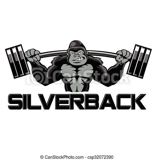 Strong gorilla silverback eps vectors - Search Clip Art ...