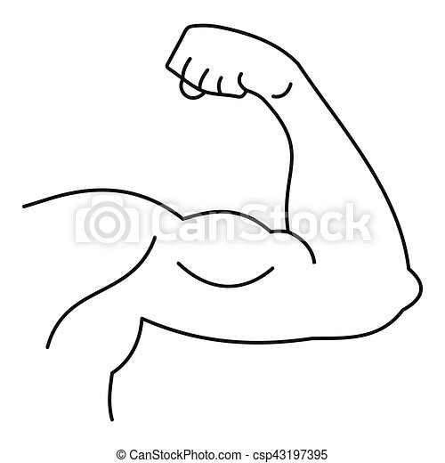 Strong Hand Muscle Icon Simple Style Strong Hand Muscle Icon