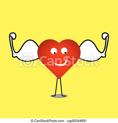 strong healthy heart vector heart character illustration vector rh canstockphoto ca