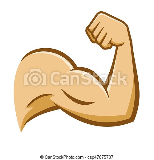 strong human muscle arm vector stock of a strong muscular arm on a rh canstockphoto com muscle clipart images muscle clipart free