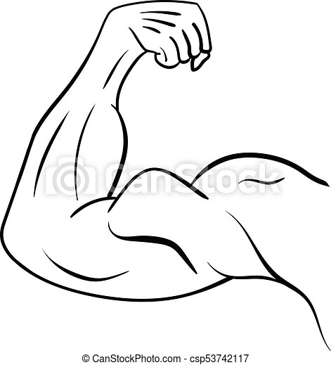 Strong Male Arm Symbol Of Power And Muscle Vector Illustration