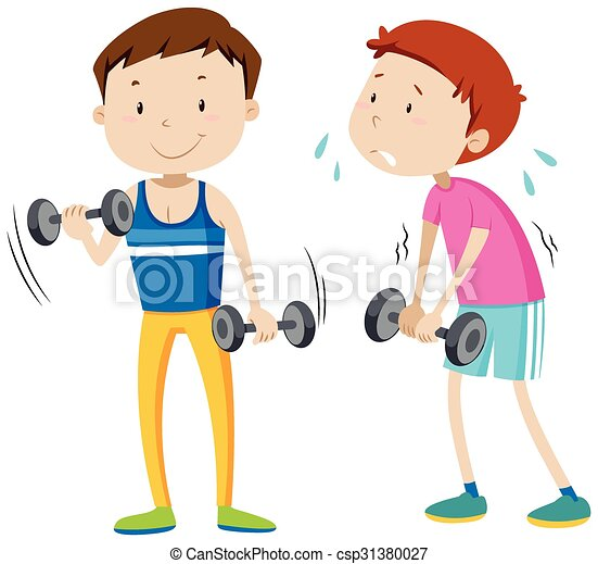 strong man and weak man illustration vector illustration search rh canstockphoto ie strong person clipart strong person clipart
