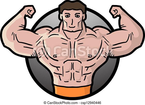 creative design of strong man eps vector search clip art rh canstockphoto com Strong Man Silhouette Strong Man Silhouette