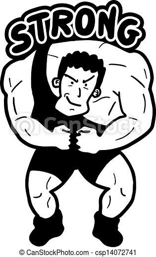 Strong man - csp14072741