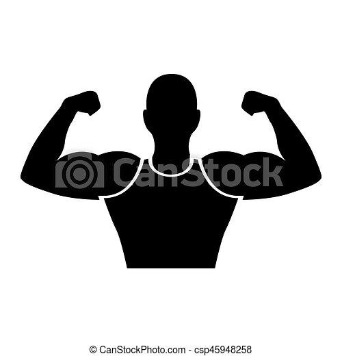 strong man human figure vector illustration design rh canstockphoto com circus strong man clipart strong man clip art free