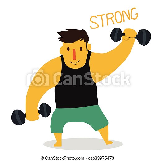 Strong man - csp33975473