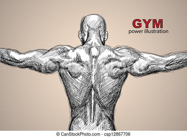 Strong man - csp12867706