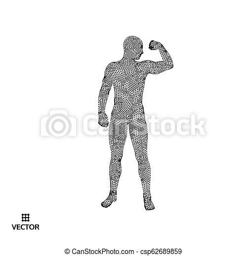 Strong men  Sport symbol  Vector ilustration for design