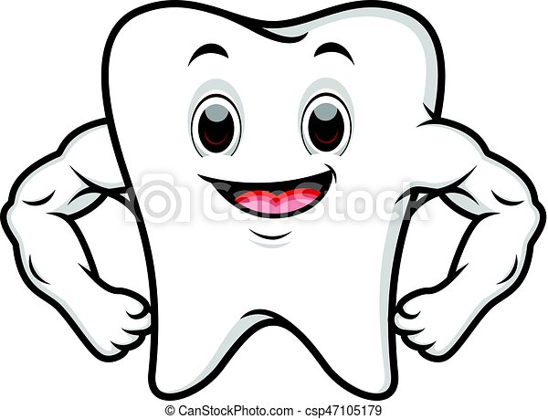 Strong tooth cartoon - csp47105179