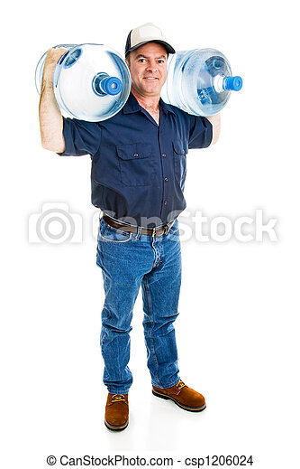 Strong Water Delivery Man - csp1206024