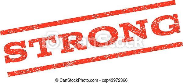 Strong Watermark Stamp - csp43972366