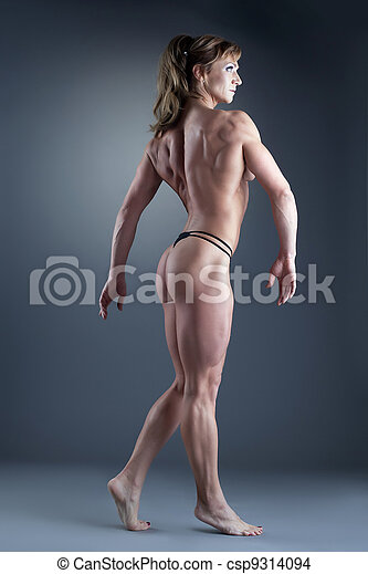 Strong naked woman